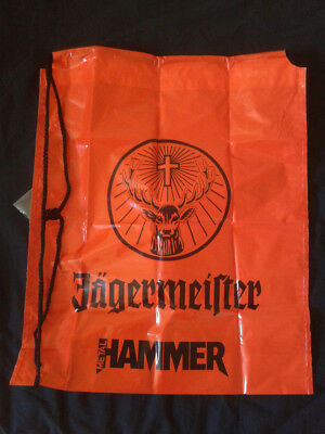 Jagermeister plastic bag with cord Metal Hammer Daniels doom heavy Metal Jack