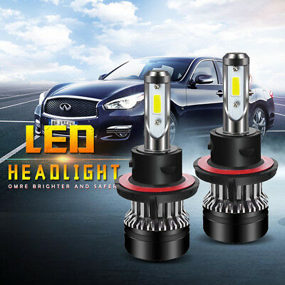 QUW H13 9008 LED Headlight Bulb High/Low Beam 6000LM 6500K Chips Kit