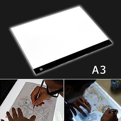 A3 LED Ultra Slim Art Craft Drawing Copy Tracing Tattoo Light Box Pad Board New