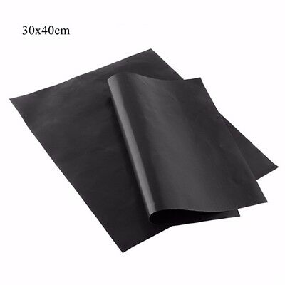 30x40cm PTFE Non-Stick Black Barbeque Reusable Cooking Baking Sheet