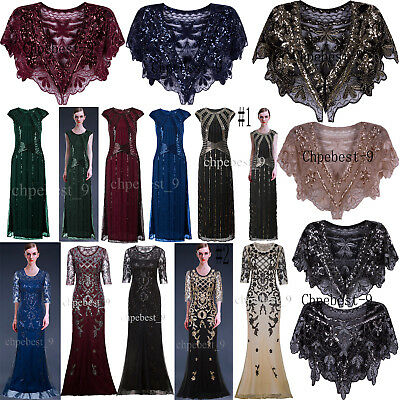 1920's Flapper Dress Gatsby Vintage Wedding Gowns Evening Party Prom Dresses XXL
