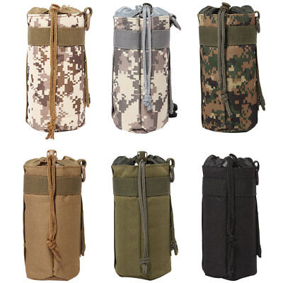 Camouflage Camo Water Bottle Carrier Insulated Cover Bag Holder Outdoor Climbing