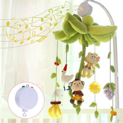 Infant Baby Mobile Crib Bed Toy Rotary Music Box Pushchair Hanging Bell Holder
