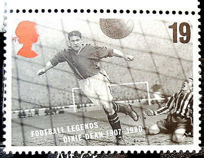 Football Legend DIXIE DEAN 1907-1980, lot of 14x Genuine POSTAGE STAMPS 19p each