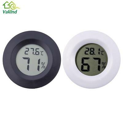 Digital Hygrometer Thermometer Round Humidor Cigar Temperature Black New Us New
