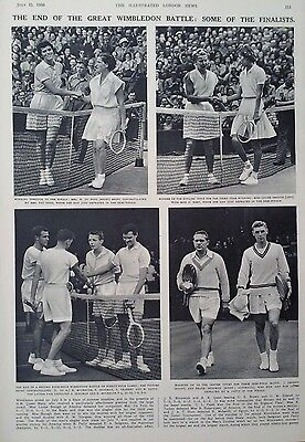 1950 Print The Wimbledon Championships-Scenes From The Apollo & Aldwych Theatres