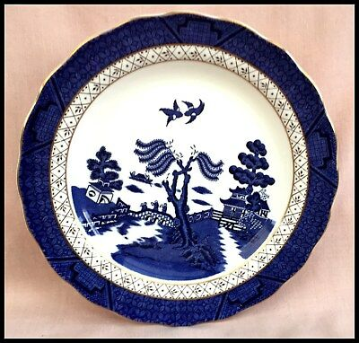 """Royal Doulton Booths """"Real Old Willow"""" T.c 1126  Salad Plate 1981 England"""