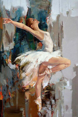 Ballet girl Modern Abstract Oil Painting hand-painted art on canvas(NO framed)