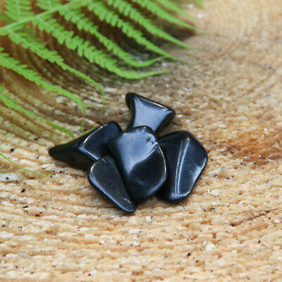 SHUNGITE TUMBLED STONES Set 200 grams for EMF Protection and Water TS08
