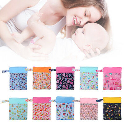 Baby Diaper Storage Bag Portable Waterproof Wet Dry Washable Pouch Nappy Pocket