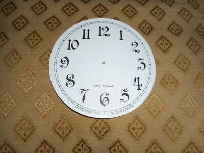 "For American Clocks - Seth Thomas Paper Clock Dial- 4 1/2""  M/T- Arabic / Spares"