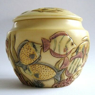 Tropical Garden - Jardinia - NIB - Fish Trinket Pot - MPS Harmony Kingdom