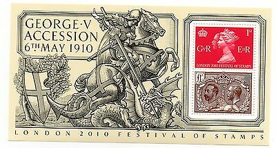 GB 2010 George V Accession unmounted mint mini / miniature sheet MNH m/s stamps