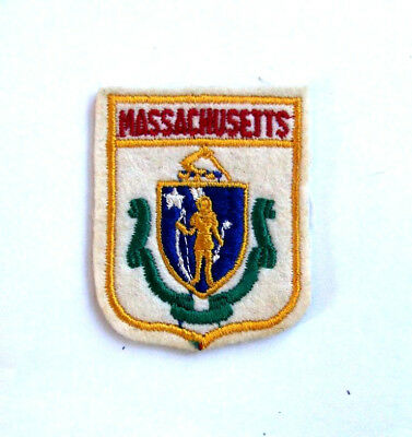"Cloth Massachusetts Patch - Travel Souvenir - 2 1/2"" - FREE SHIPPING"