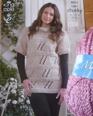 King Cole Maxi-Lite Super Chunky Ladies Long Sweater Knitting Kit