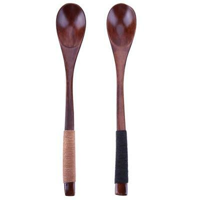 Rice Soup Dessert Wooden Kitchen Spoons Spoon Utensils Tableware Long Handled
