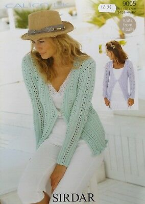 Sirdar Calico DK Ladies One Button Cardigan Knitting Kit