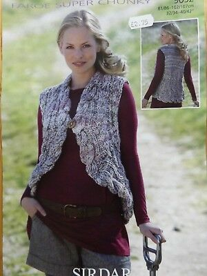 Sirdar Faroe Super Chunky Ladies Waistcoat Knitting Kit