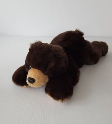 """Bank of the West Brown Grizzly Bear 12.5"""" Plush Stuffed Animal Laying Down"""