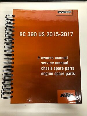 KTM RC390 RC 390 Service Repair Workshop Manual + Parts Catalog+ User manual