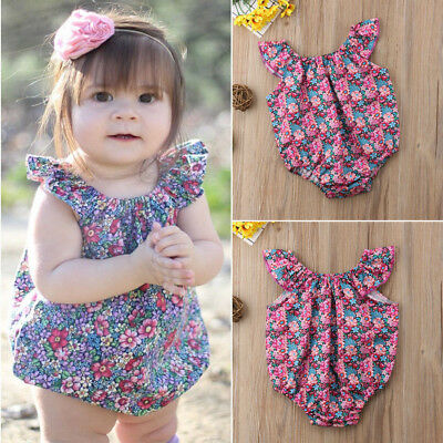 Summer Newborn Infant Baby Girls Romper Bodysuit Jumpsuit Sunsuit Clothes Outfit