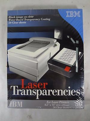 "IBM 24L5041 Laser Transparencies Qty 50 Sheets 8.5"" x 11""  SEALED New in Box"