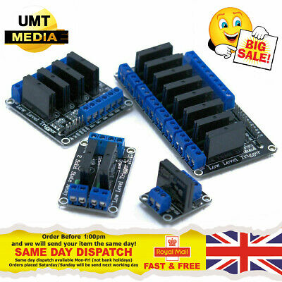 5V 1/2/4/8 SSR Channel Solid State Relay Module Arduino Raspberry PI AVR PIC