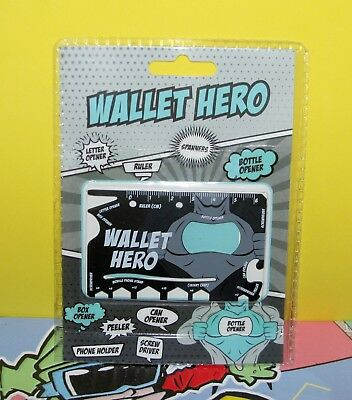 18 in 1 Multi Tool Wallet Hero Durable Stainless Steel Credit Card Size X1 Unit