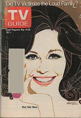 1973 TV GUIDE Mary Tyler Moore May 19-25 Amsel Cover
