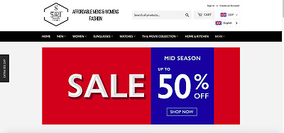 Online Womens Mens Merchandise Fashion Store $14K SALES in 3 Months Shopify
