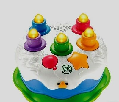 Rare Leap Frog Happy Birthday Cake Blow Candles Toy