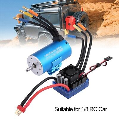 SUPARSS 3670 2650KV Brushless Motor with 120A ESC Combo for 1/8 SCX10 RC Car