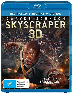 Skyscraper 3D Edition with 2D Edition Digital Download Blu-ray Region B NEW