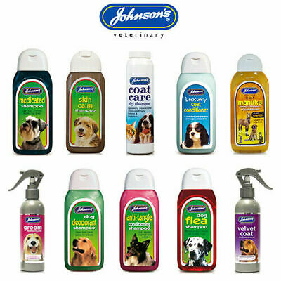 Johnsons Pet Dog Puppy Kitten Small Animal Shampoo Conditioner 125ml 200ml 400ml