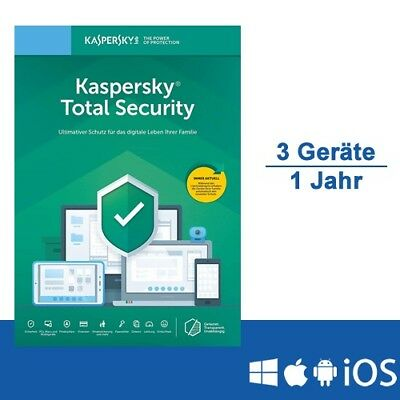 Kaspersky Total Security 2019 - Multi-Device, 3 Geräte - 1 Jahr, ESD, Download