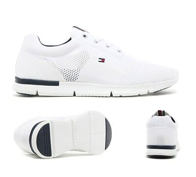 sale online meet free delivery MENS TOMMY HILFIGER Tobias Knit Runner White Trainers (PF27) RRP ...