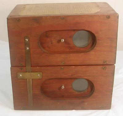 Antique Vermeer's Camera Wood & Glass Adjustable Large Double Box Camera Rare