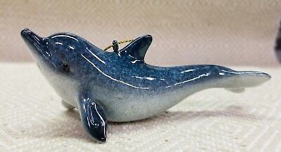 Dolphin  ~ Hanging Christmas Ornament ~ Nautical Beach Coastal Decor NEW