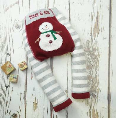 Blade and Rose Christmas Fluffy Snowman Leggings 0-6 Months to 3-4 Years stocked