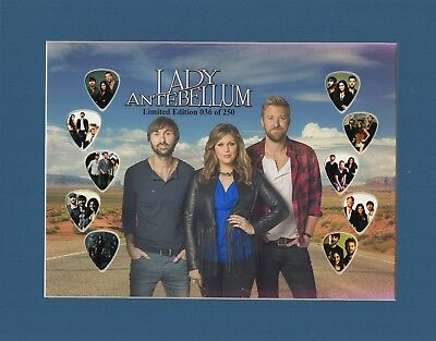 Lady Antebellum Matted Picture Guitar Pick Set Limited Number May Vary