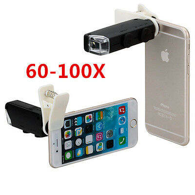 Lens Camera Phone Mobile Zoom Universal Clip Telescope Cell Optical Kit 8x New