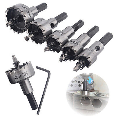 Hole Saw Set Drill Tooth Steel Hss Bit Cutter Metal Wood Alloy Tool Stainless