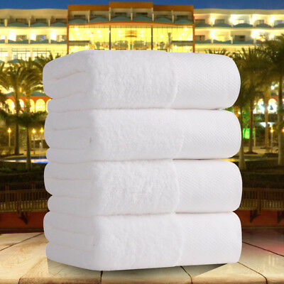 Cotton Bath Towel White Thick Soft Strong Salon Absorbent Hotel Super Strong New