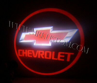 Chevy LED Door Projector Courtesy Puddle Logo Lights Red