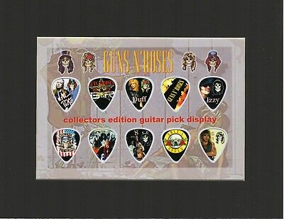 Guns N' And Roses Matted Picture Guitar Pick Collector's Edition Slash Axl Rose