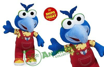 """Disney Store GONZO PLUSH Small MUPPET BABIES 13"""" PARKS SOFT BIRD TOY NEW 2018"""