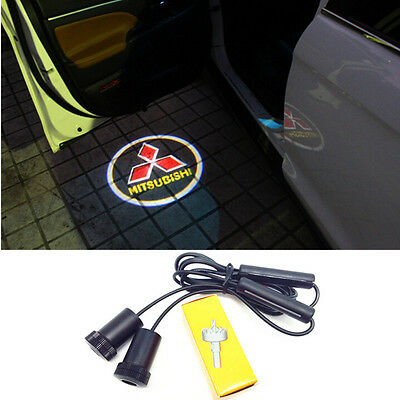 LED Car Door Logo Light Laser Welcome Mitsubishi Guest Shadow Projector Light