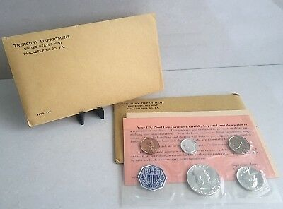 US Mint Silver Proof Set ~ 5 Coin Flat Pack ~ 1963 Original UNOPENED Envelope