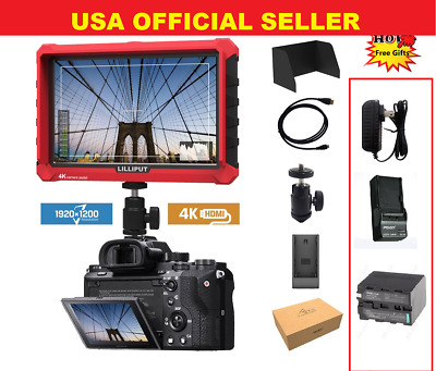"""LILLIPUT 7""""  Model  A7s 4K HDMI 1.4 30Hz Field Monitor W/ F970 Battery + Charger"""
