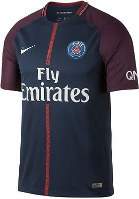 Nike Mens PSG - Paris Saint Germain 2017/18 Home Shirt - All Sizes - Navy